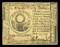 Colonial Notes:Continental Congress Issues, Continental Currency May 10, 1775 $30 Extremely Fine-About New. Asingle centerfold and stamp hinge residue are the only mar...