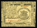 Colonial Notes:Continental Congress Issues, Continental Currency November 29, 1775 $1 Choice New. Closelymargined all around, but well signed and very bright....