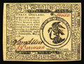 Colonial Notes:Continental Congress Issues, Continental Currency May 9, 1776 $3 Very Choice New. Beautifullymargined and oh-so-close to the full Gem grade. Only a sing...