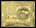 Colonial Notes:Continental Congress Issues, Continental Currency May 9, 1776 $4 Choice About New. It is painfulto have to call this note AU as the only thing keeping i...
