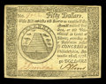 Colonial Notes:Continental Congress Issues, Continental Currency September 26, 1778 $50 Choice About New. Alight corner bend accounts for the grade of this wholly orig...