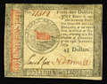 Colonial Notes:Continental Congress Issues, Continental Currency January 14, 1779 $45 Choice New. Tightlymargined across the top, but very nicely embossed, well-signed...