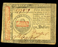 Colonial Notes:Continental Congress Issues, Continental Currency January 14, 1779 $50 Extremely Fine-About New.Light handling that includes a pinhole is found on this ...