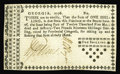 Colonial Notes:Georgia, Georgia 1776 1s Extremely Fine-About New. One tiny edge split hasbeen checked on the back with a small piece of tape on thi...