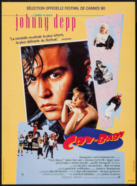 "Cry-Baby & Other Lot (United International Pictures, 1990). French Petite (15"" X 20.5""), French Grande (46..."