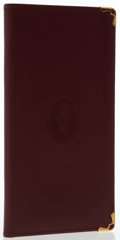 Luxury Accessories:Accessories, Cartier Burgundy Leather Bifold Long Wallet. ...