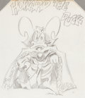 Original Comic Art:Sketches, Gene Colan - Howard the Duck Commission Sketch Original Art (undated)....