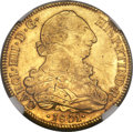 Chile, Chile: Charles IIII gold 8 Escudos 1801 So-AJMS62 NGC,...