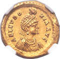 Ancients:Roman Imperial, Ancients: Licinia Eudoxia, wife of Valentinian III (Augusta, AD425-450). AV solidus (21mm, 4.47 gm, 6h). ...