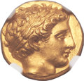 Ancients:Greek, Ancients: MACEDONIAN KINGDOM. Philip II (359-336 BC). AV stater(18mm, 8.62 gm, 12h). ...