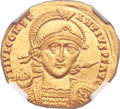 Ancients:Roman Imperial, Ancients: Constantius II (AD 337-361). AV solidus (22mm, 4.45 gm,6h). ...