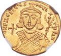 Ancients:Byzantine, Ancients: Philippicus (Bardanes) (AD 711-713). AV solidus (21mm, 4.44 gm, 6h)....
