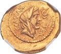 Ancients:Roman Republic, Ancients: Julius Caesar as Dictator (49-44 BC). AV aureus (23mm, 8.07 gm, 12h).  ...
