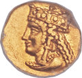 Ancients:Greek, Ancients: CYPRUS. Salamis. Nicocles (ca. 374-361 BC). AV tenthStater (9mm, 0.67 gm, 3h). ...
