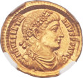 Ancients:Roman Imperial, Ancients: Valentinian I (AD 364-375). AV solidus (21mm, 4.47 gm,6h). ...