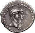 Ancients:Roman Imperial, Ancients: Nero (AD 54-68), with Agrippina Junior (died AD 58). ARdenarius (19mm, 3.22 gm, 3h)....
