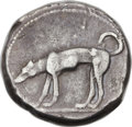 Ancients:Greek, Ancients: SICILY. Segesta. Ca. 450-416 BC. AR didrachm (22mm 8.40gm, 9h)....