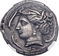 Ancients:Greek, Ancients: SICULO-PUNIC. Entella. Ca. 320-300 BC. AR tetradrachm (27mm, 16.95gm, 11h). ...