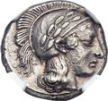 Ancients:Greek, Ancients: LUCANIA. Thurium. Ca. 443-400 BC. AR stater (23mm, 7.97gm, 1h). ...