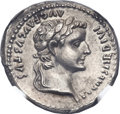 Ancients:Roman Imperial, Ancients: Tiberius (AD 14-37). AR denarius (19mm, 3.74 gm, 12h). ...
