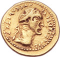 Ancients:Roman Imperial, Ancients: Tiberius (AD 14-37). AV imitative aureus (20mm, 6.96 gm, 5h). ...