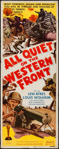 "Movie Posters:Academy Award Winners, All Quiet on the Western Front (Realart, R-1950). Insert (14"" X36""). Academy Award Winners.. ..."