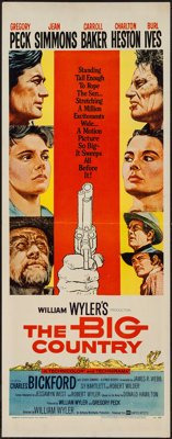 """The Big Country (United Artists, 1958). Insert (14"""" X 36""""). Western"""