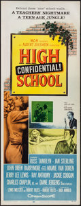 "Movie Posters:Exploitation, High School Confidential (MGM, 1958). Insert (14"" X 36"").Exploitation.. ..."