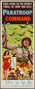 "Movie Posters:War, Paratroop Command (American International, 1959). Insert (14"" X36""). War.. ..."