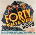 "Movie Posters:Western, Forty Thieves (United Artists, 1944). Six Sheet (79"" X 80""). Western.. ..."
