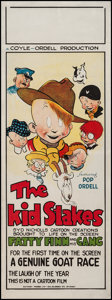 "Movie Posters:Comedy, The Kid Stakes (Ordell-Coyle, 1927). Australian Daybill (14.75"" X40""). Comedy.. ..."
