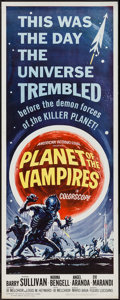 "Movie Posters:Horror, Planet of the Vampires (American International, 1965). Insert (14"" X 36""). Horror.. ..."