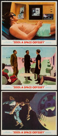 "Movie Posters:Science Fiction, 2001: A Space Odyssey (MGM, 1968). Lobby Cards (3) (11"" X 14"").Science Fiction.. ... (Total: 3 Items)"