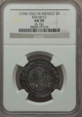 Mexico, Mexico: Carlos & Joanna 2 Reales ND (1542-55)-G AU50 NGC,...