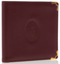 Luxury Accessories:Accessories, Cartier Burgundy Leather Bifold Wallet. ...