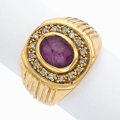 Estate Jewelry:Rings, Star Ruby, Diamond, Gold Ring. ...