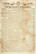 "Miscellaneous:Newspaper, [Texas Revolution]. Newspaper: Star in the East andNew-Hampshire Universalist. Four pages, 12.75"" x 18.75"", Con..."