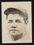 Baseball Cards:Singles (1940-1949), Scarce 1949 Leaf Babe Ruth, No Text Premium. ...