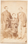 "Photography:CDVs, Civil War Era Carte de Visite of Three Men From the ""American Telegraph Office, Knoxville Tenn."" ..."