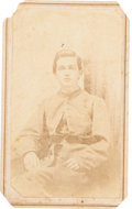 Photography:CDVs, Carte de Visite of Confederate Soldier, Likely Identified as Benjamin B. Hunt, Tennessee 32nd Infantry....