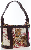 Luxury Accessories:Bags, Salvatore Ferragamo Multicolored Canvas Jungle Print Shoulder Bag....