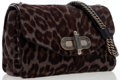 Luxury Accessories:Bags, Bally Gray & Brown Leopard Print Ponyhair Shoulder Bag. ...