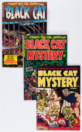 Golden Age (1938-1955):Horror, Black Cat Mystery Group (Harvey, 1951-54).... (Total: 4 ComicBooks)
