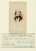 Autographs:Celebrities, Horace Greeley Autograph Note Signed....