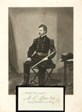 Autographs:Military Figures, General Nathaniel P. Banks Clipped Signature....
