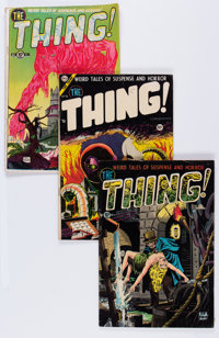 The Thing! Group (Charlton, 1952-54) Condition: Average VG-.... (Total: 6 Comic Books)