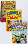 Golden Age (1938-1955):Funny Animal, Giggle Comics Group (Creston, 1943-44).... (Total: 8 Comic Books)