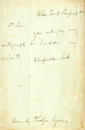 Autographs:Military Figures, Winfield Scott Autograph Letter Signed....