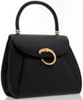 Luxury Accessories:Bags, Cartier Black Leather Classic Panthere Top Handle Bag. ...