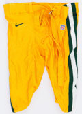 Football Collectibles:Uniforms, 1999 Green Bay Packers Game Issued Pants....